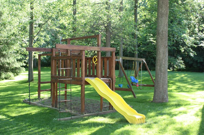 backyard playset kid stuff pinterest
