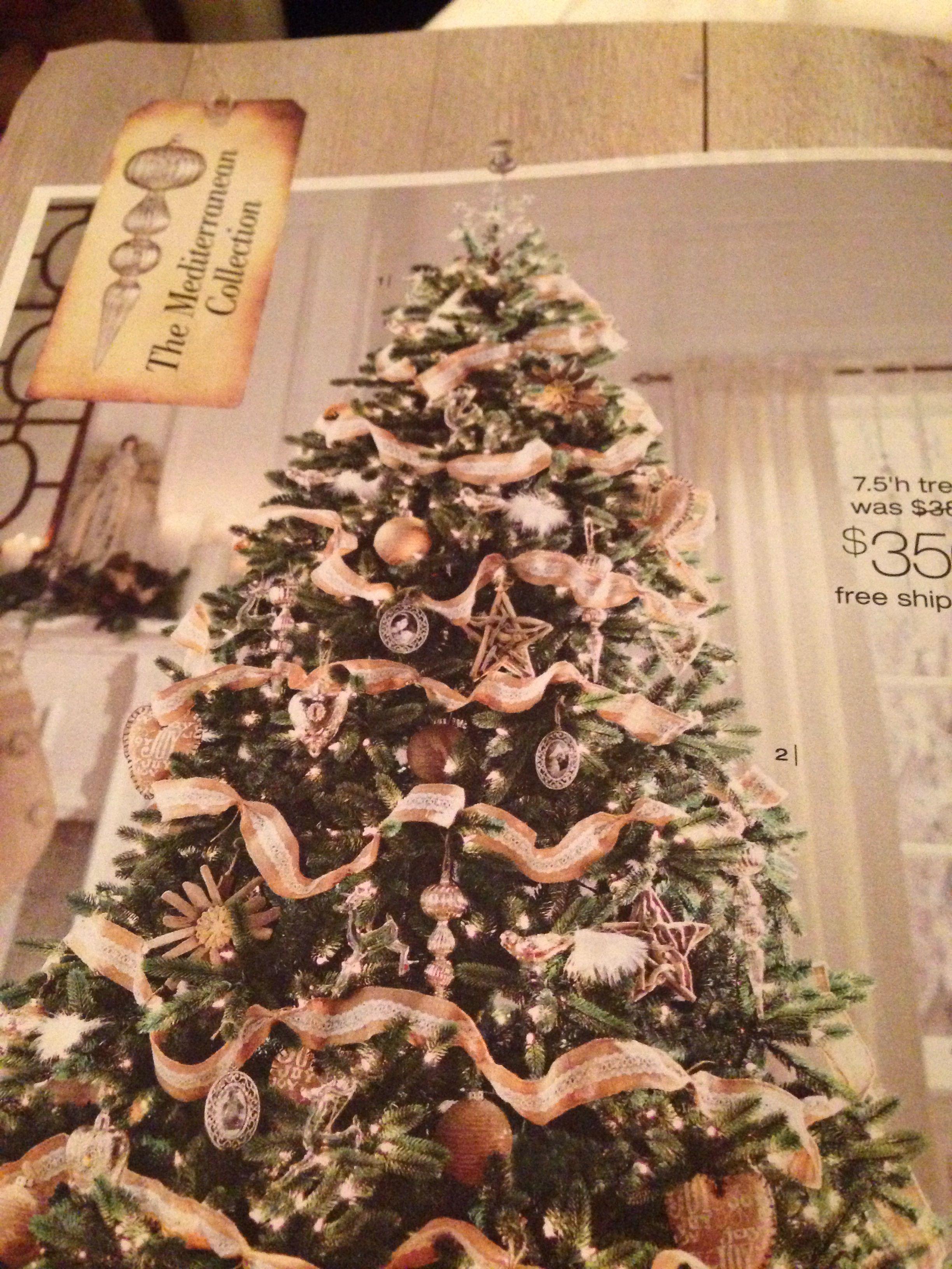 Natural Elements Tree Christmas Decor Pinterest