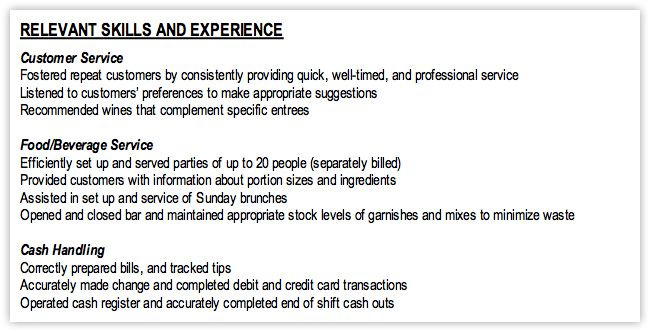 examples of skills on resumes