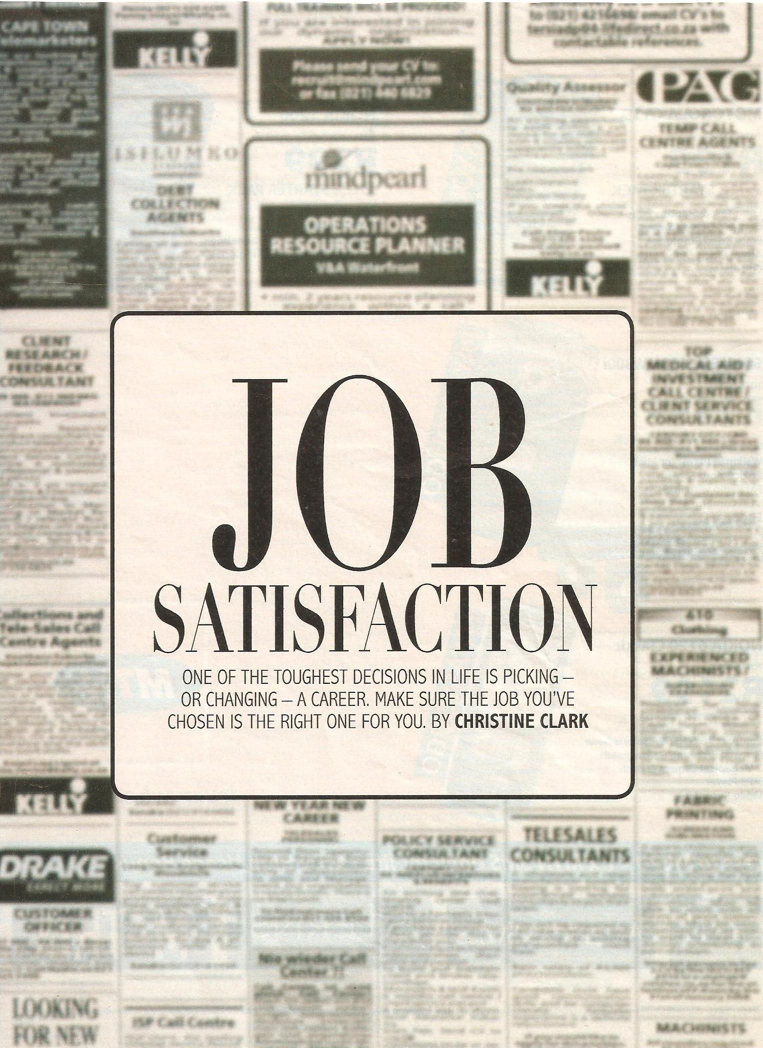job satisfaction As an hr professional, do you ever think how much easier your job would be if  all of the employees were satisfied increase employee.