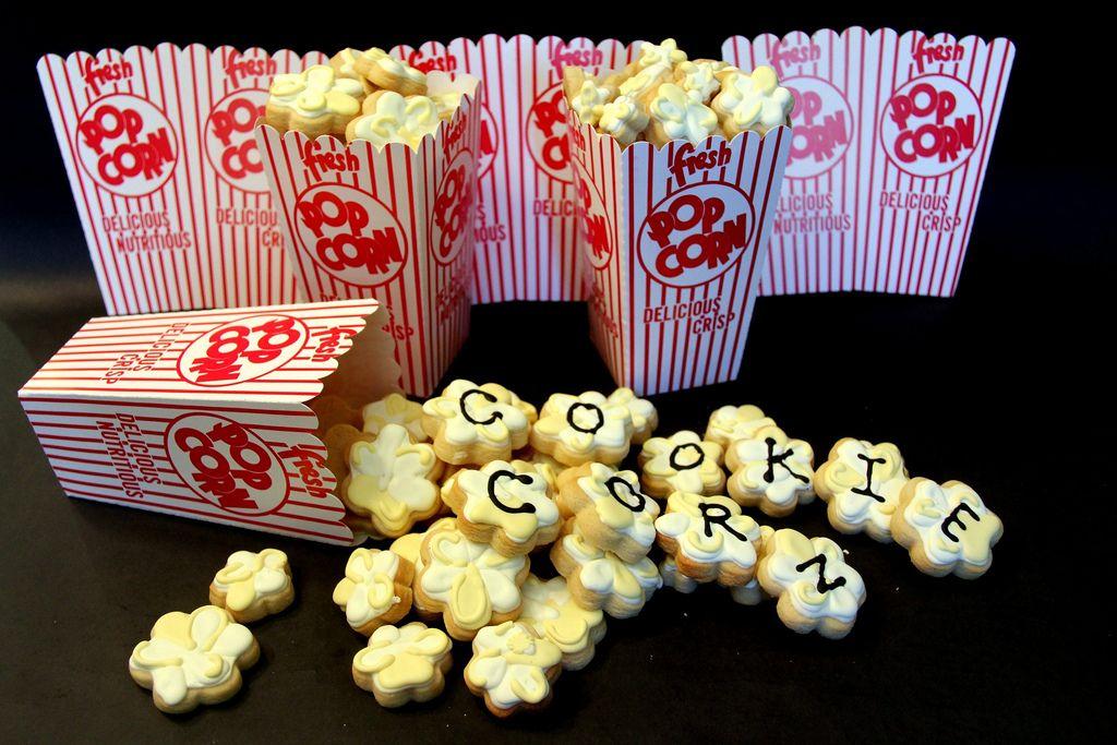 Cookie popcorn | Royal Icing Cookies | Pinterest