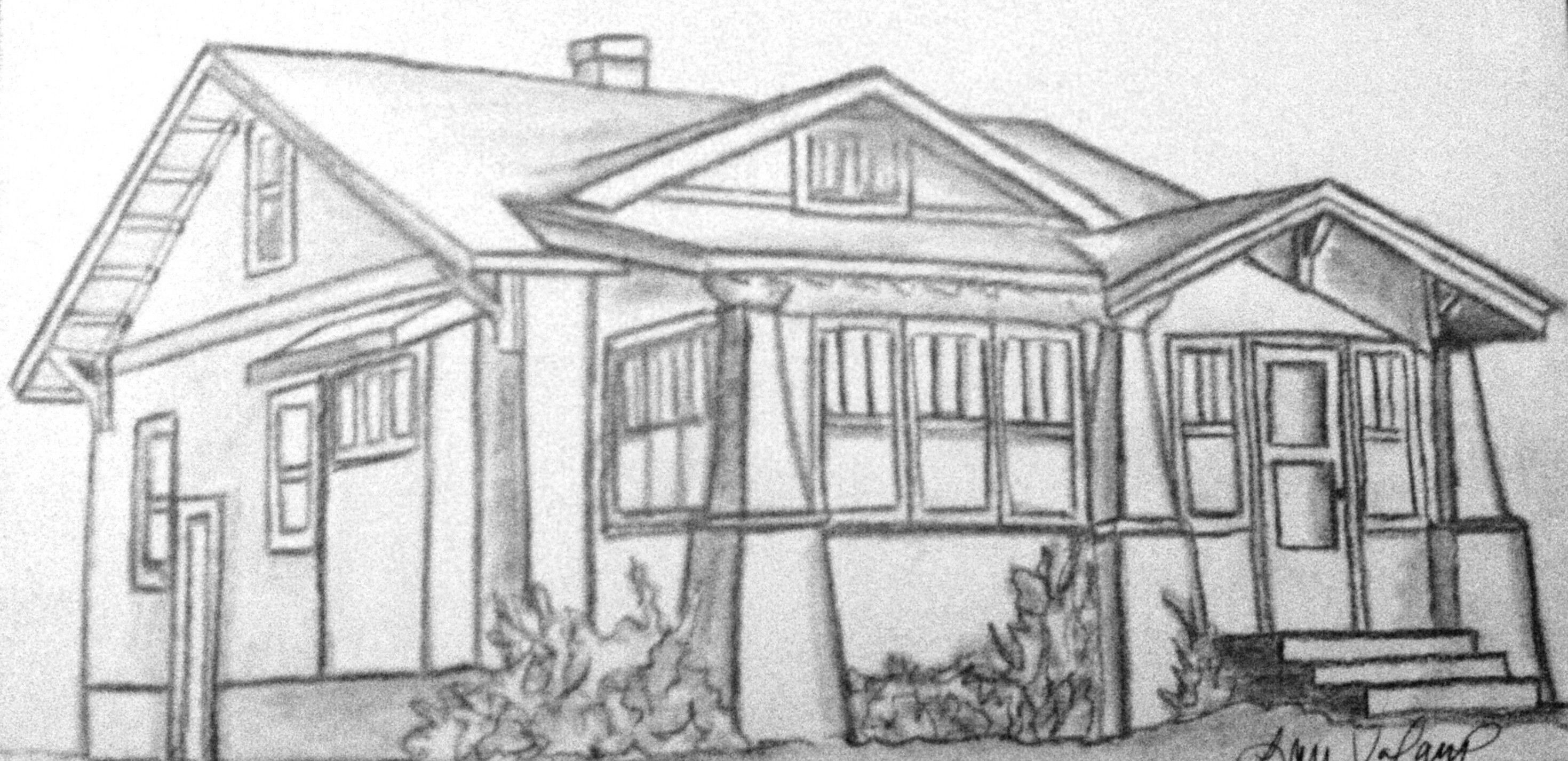 House drawing drawing class pinterest for House sketches from photos