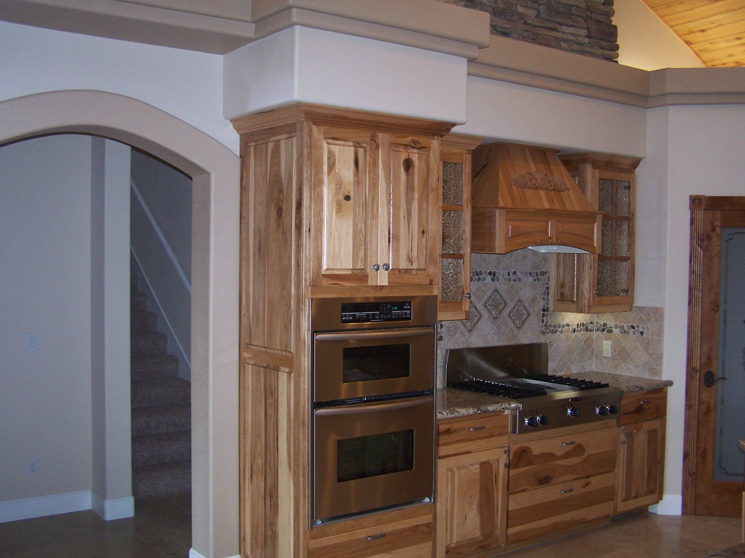 Rustic Hickory Cabinets Kitchen Pinterest