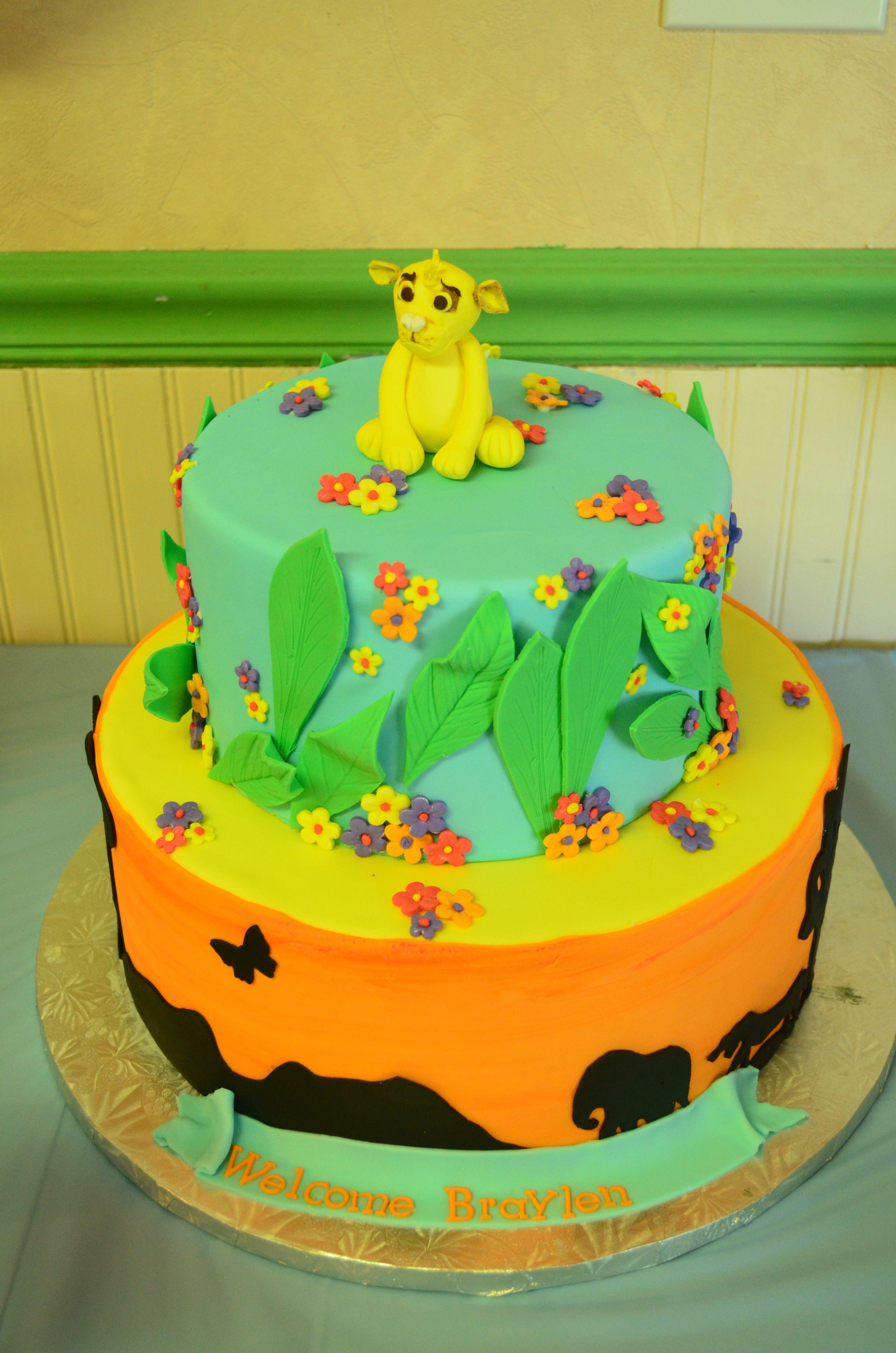 Lion king baby shower cake lion king baby shower