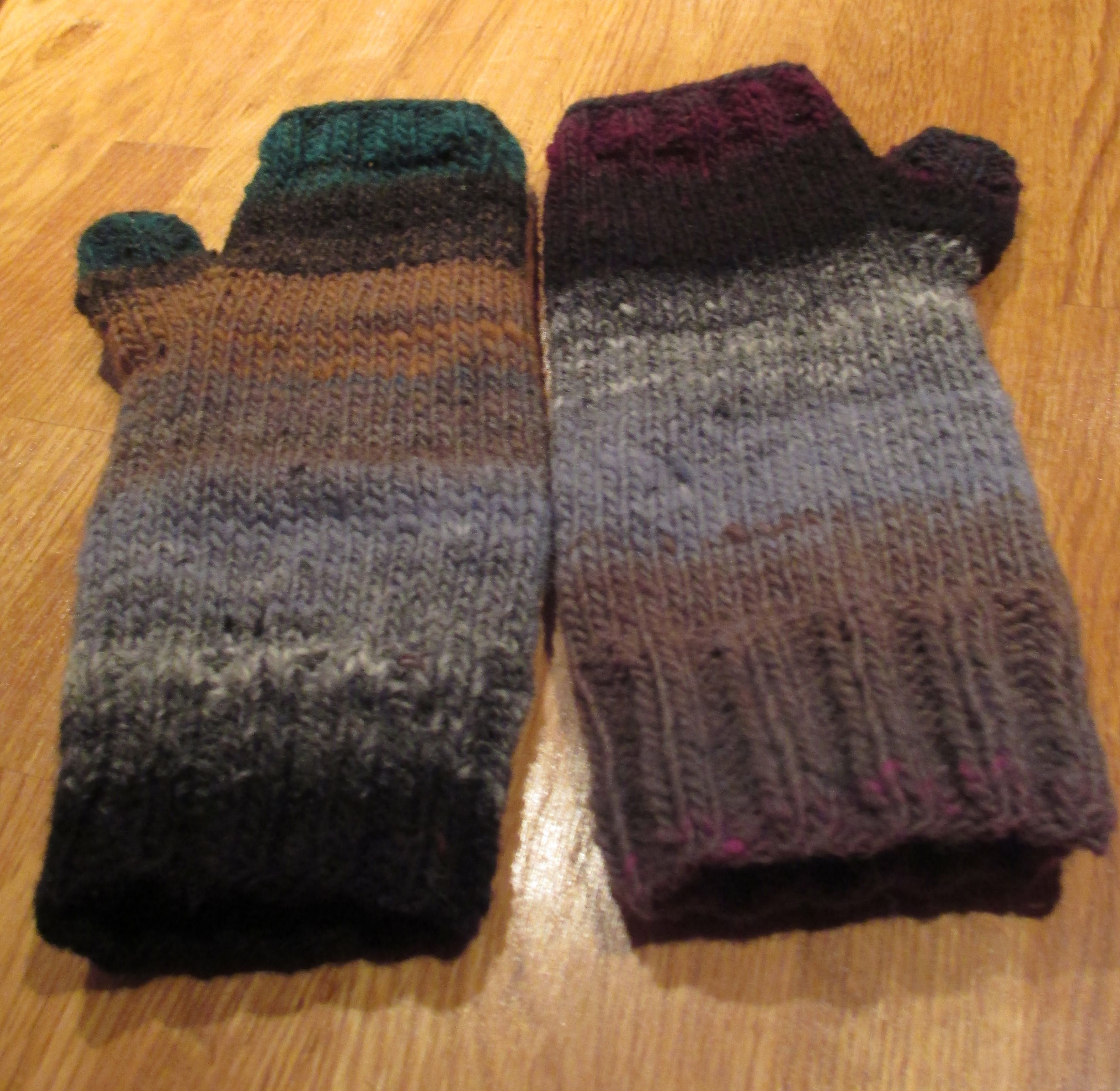 Easy Knitting Pattern Hand Warmers : hand-knit hand warmers in Noro knitting Pinterest
