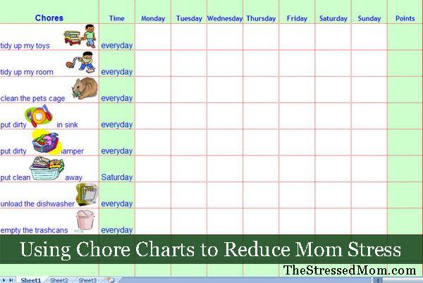 Daily Chore Chart Template  Printable Editable Blank Calendar
