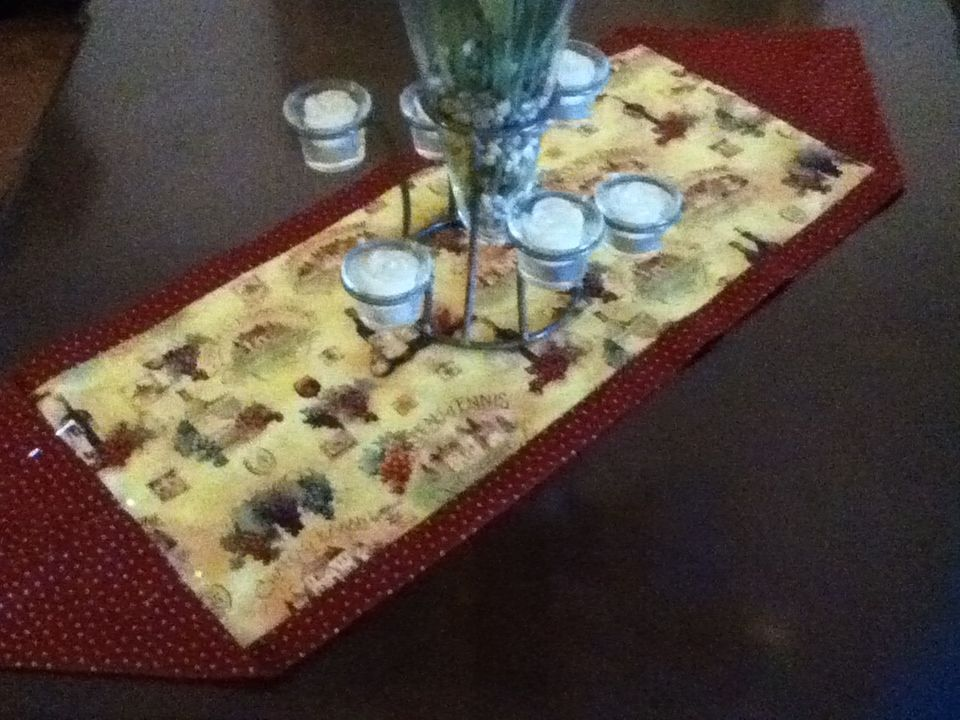 10 minute table runner for 10 min table runner