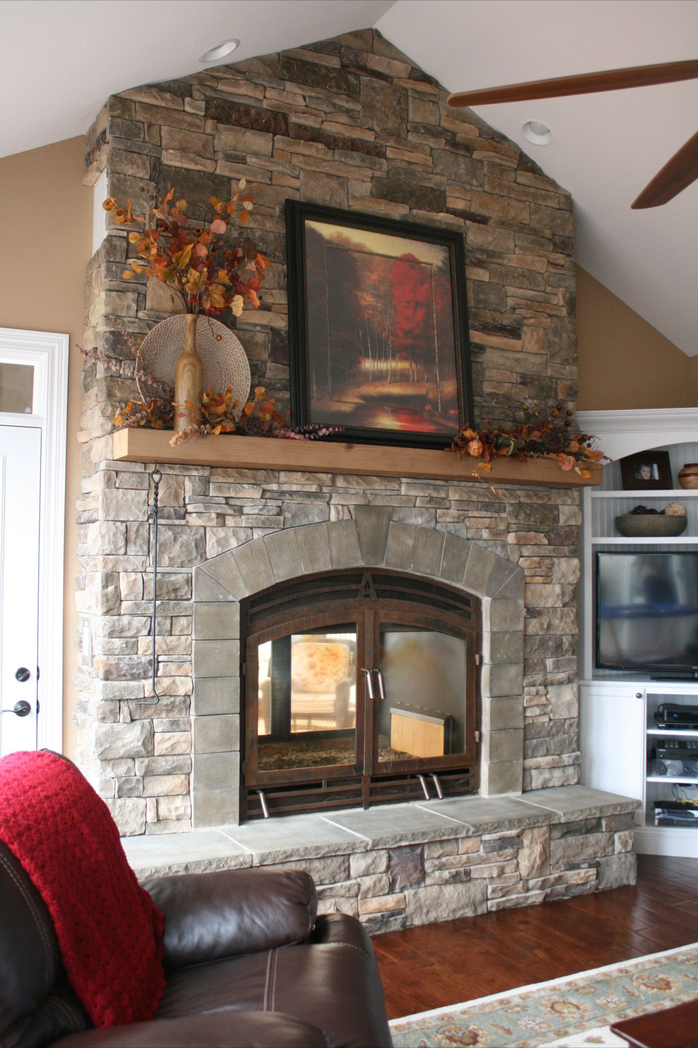 See Through Fireplace With Stone Home Sweet Home Pinterest