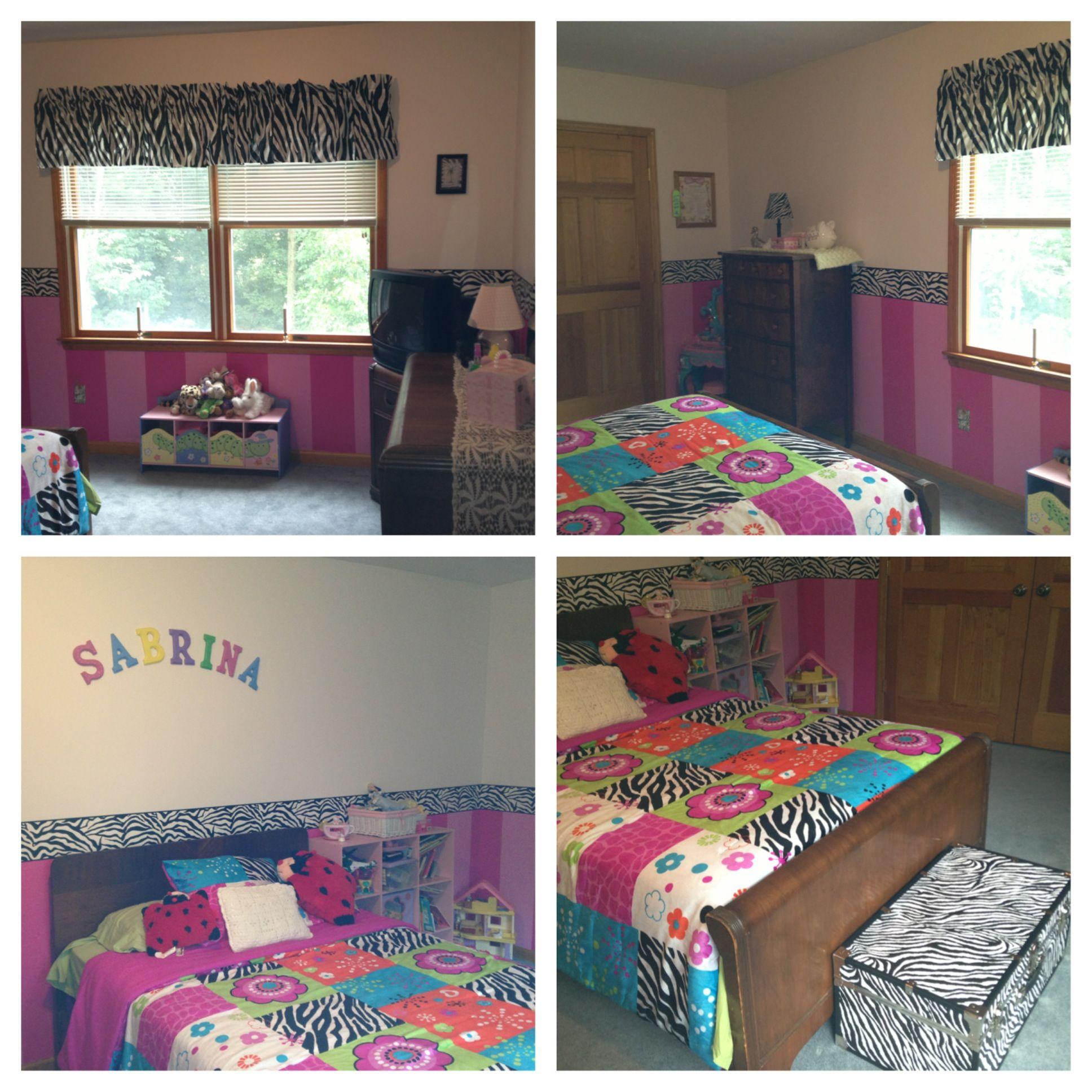 Girls Bedroom Zebra Print Pink Decorating Tips Pinterest