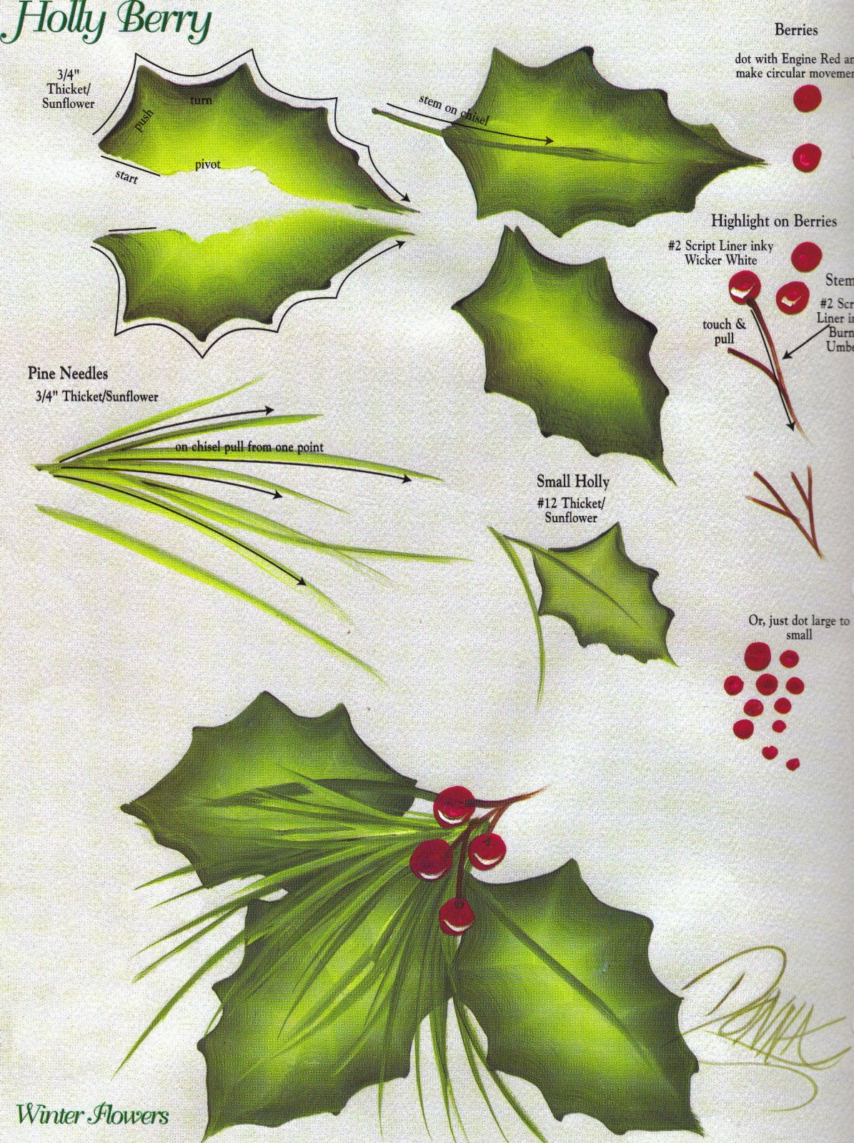 94 Best Images About Painting Holly For Christmas On Pinterest   Watercolors, Branches And Berries