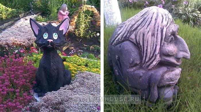 Садовая скульптура из цемента своими руками мастер класс