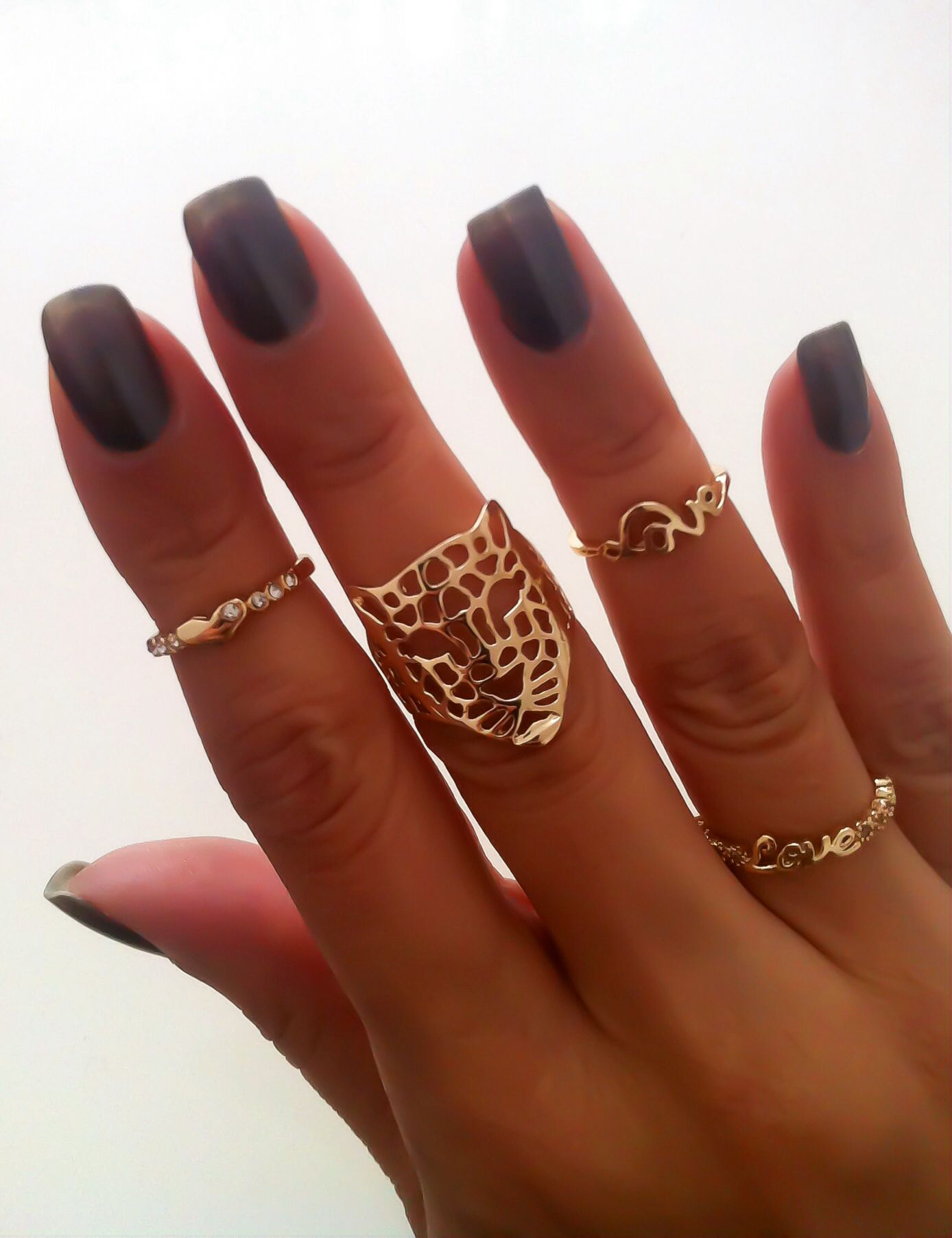 love mid finger ring and tiger ring accessorize me