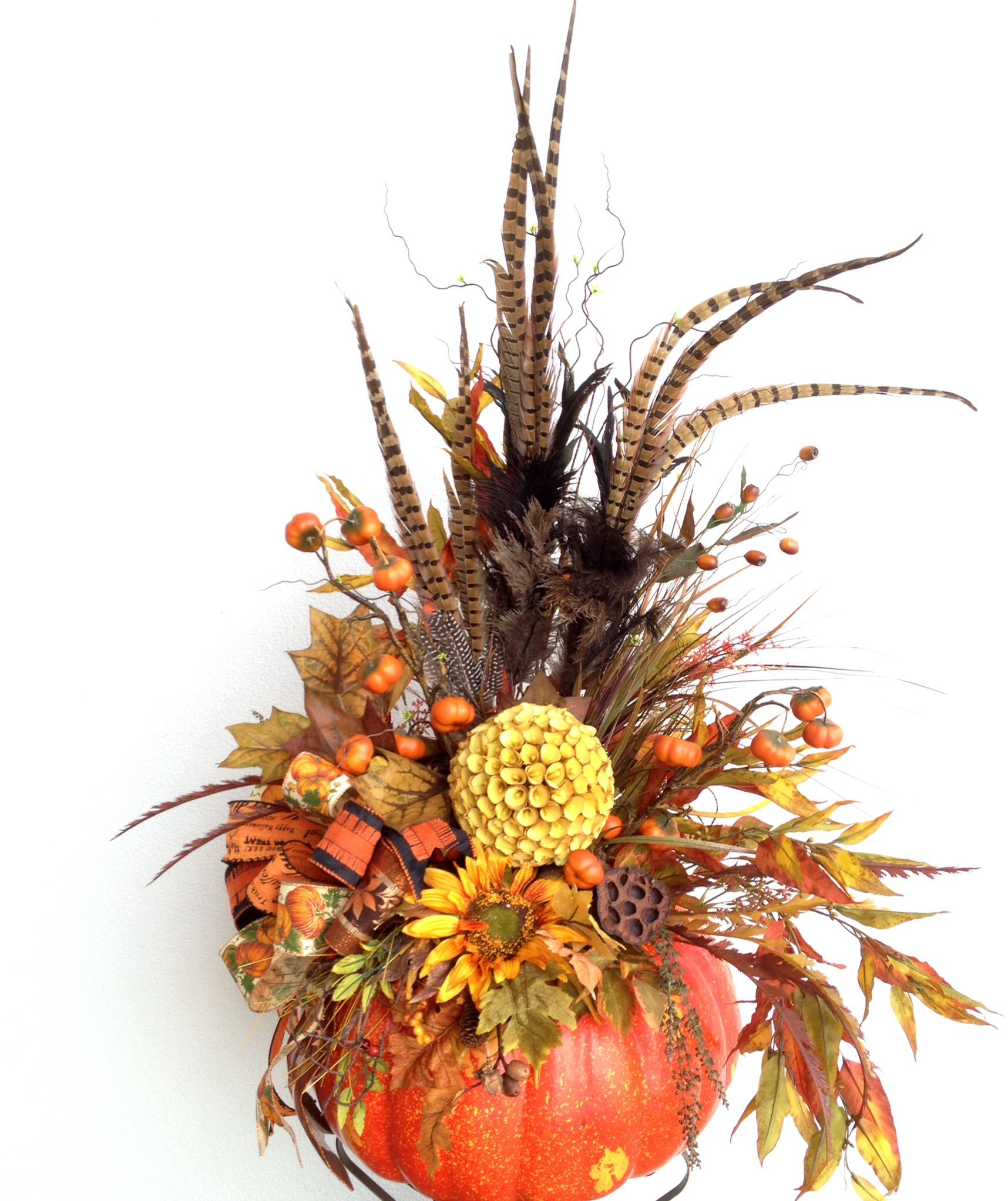 Autumn pumpkin Fall arrangement Flowers