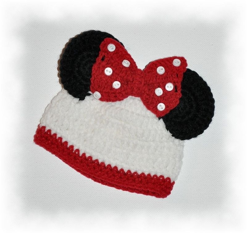 Free Minnie Mouse Knit Hat Patterns Joy Studio Design Gallery - Best Design