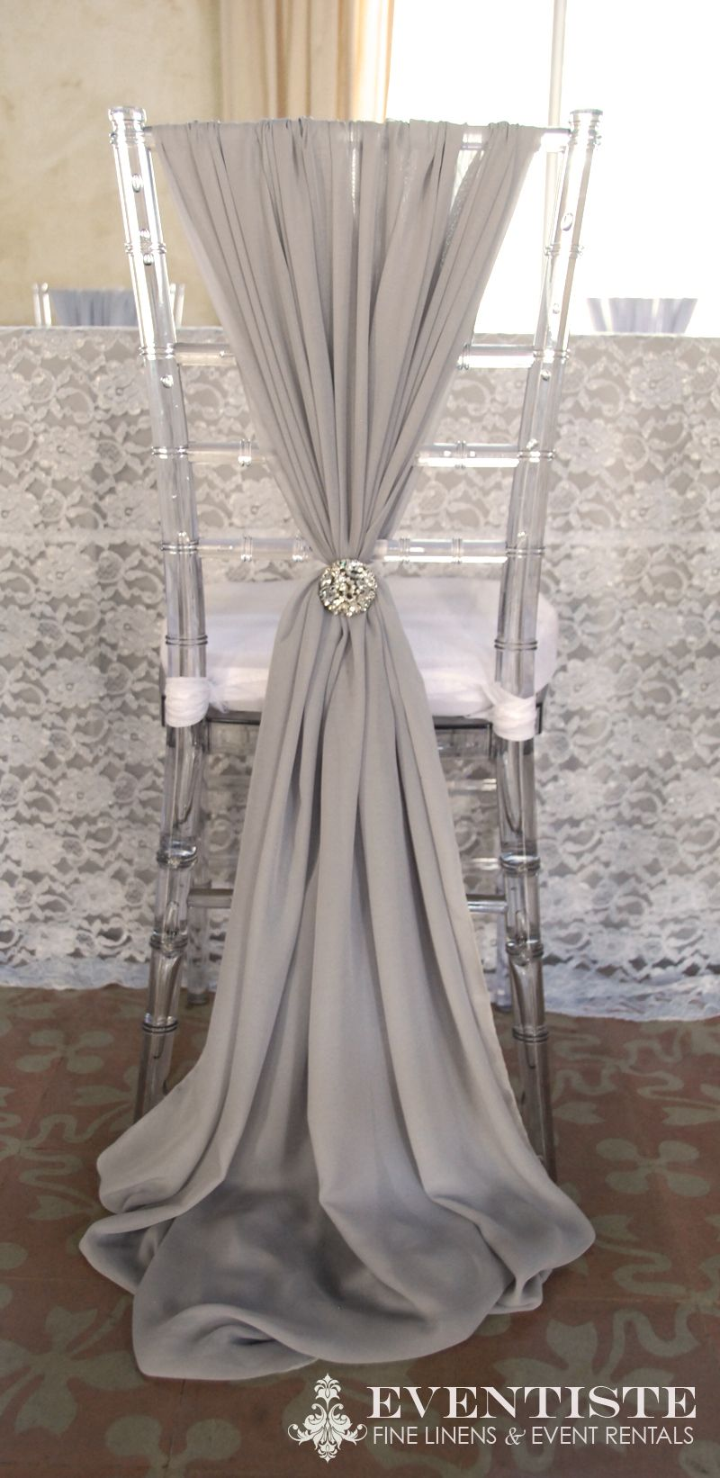 Chiffon melissa chair cover fairytale wedding pinterest for Chair covers for wedding design