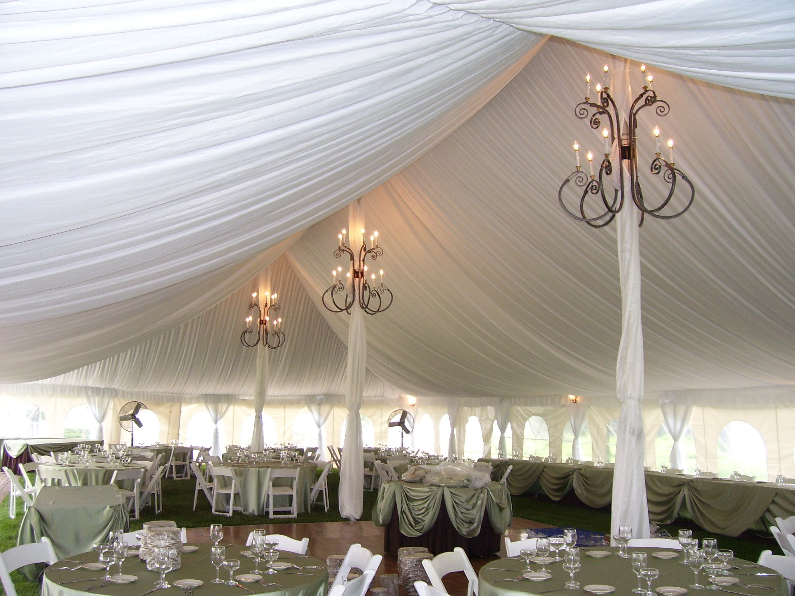 Pole tent for wedding
