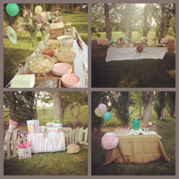 shabby chic baby shower party ideas pinterest