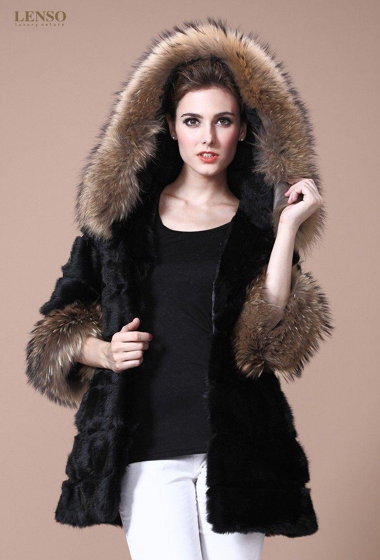 mink & raccoon fur hoodie | Furs & Softwear 20 | Pinterest