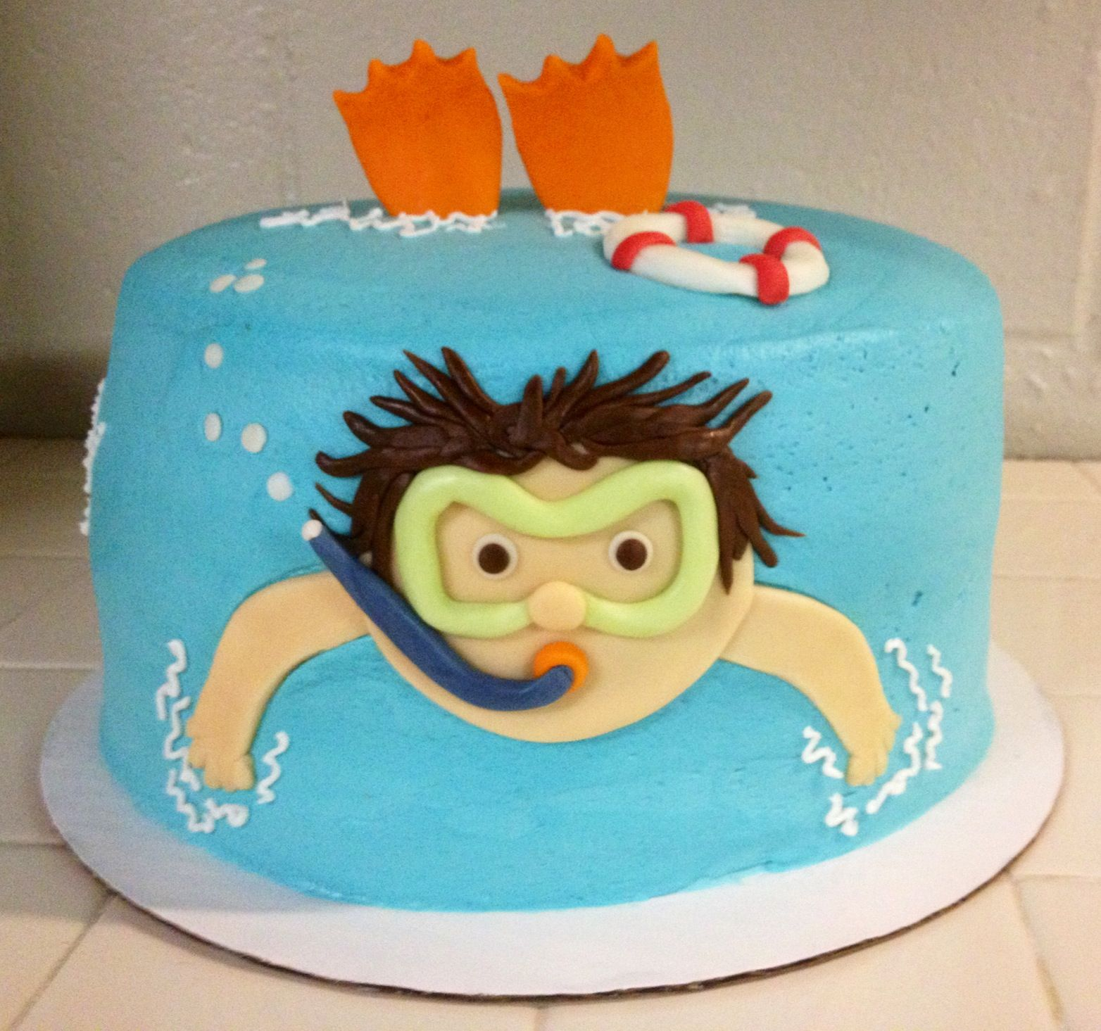 Cake Ideas For Birthday Party : Pool party birthday cake Cake ideas Pinterest