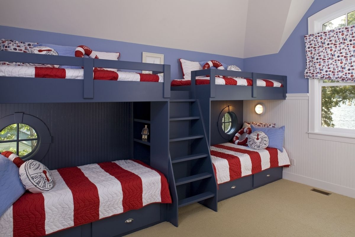 Stonebreaker builders nautical bunk beds boys room ideas Bunk bed boys room