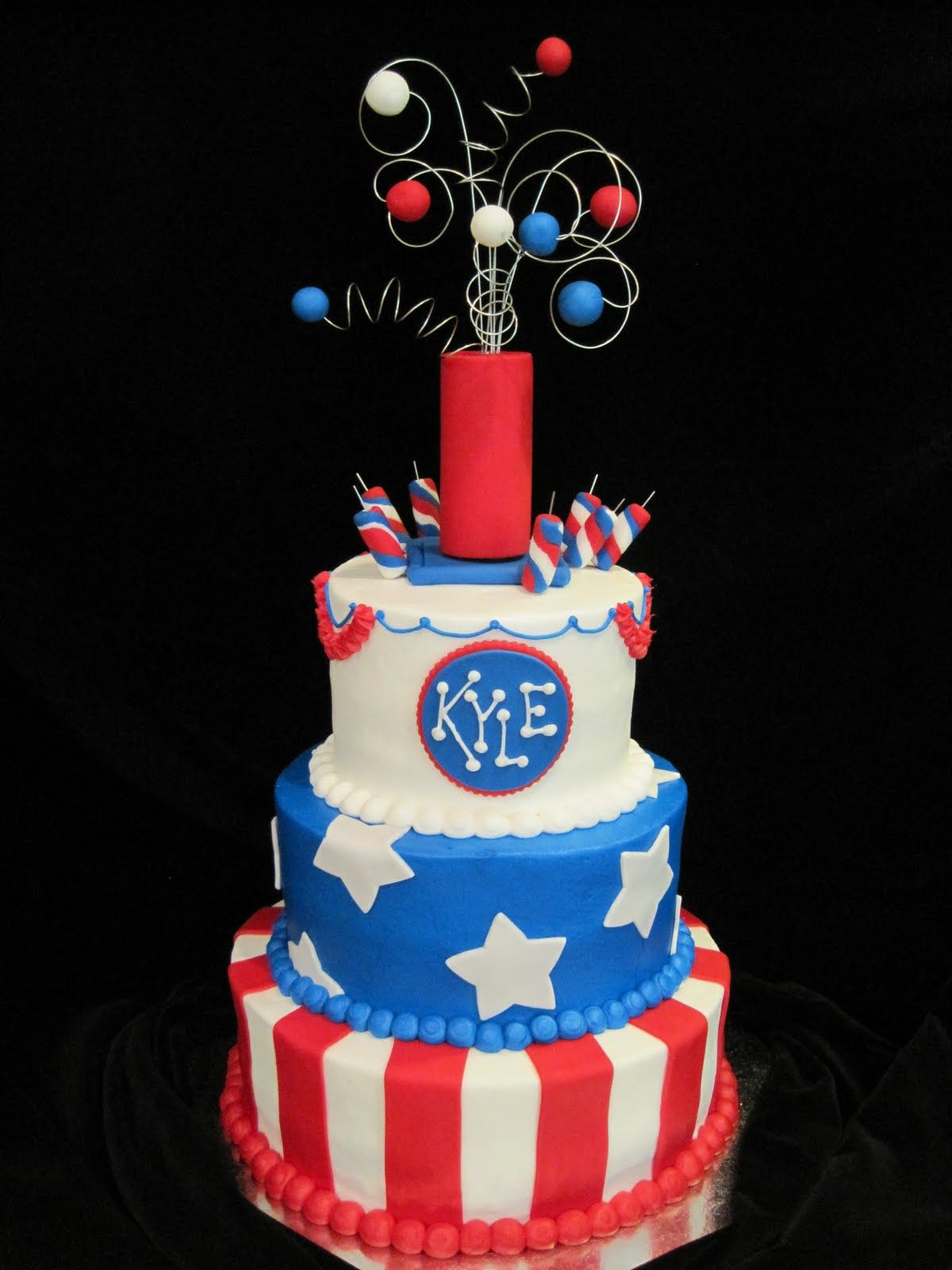 4th of july cakes pictures