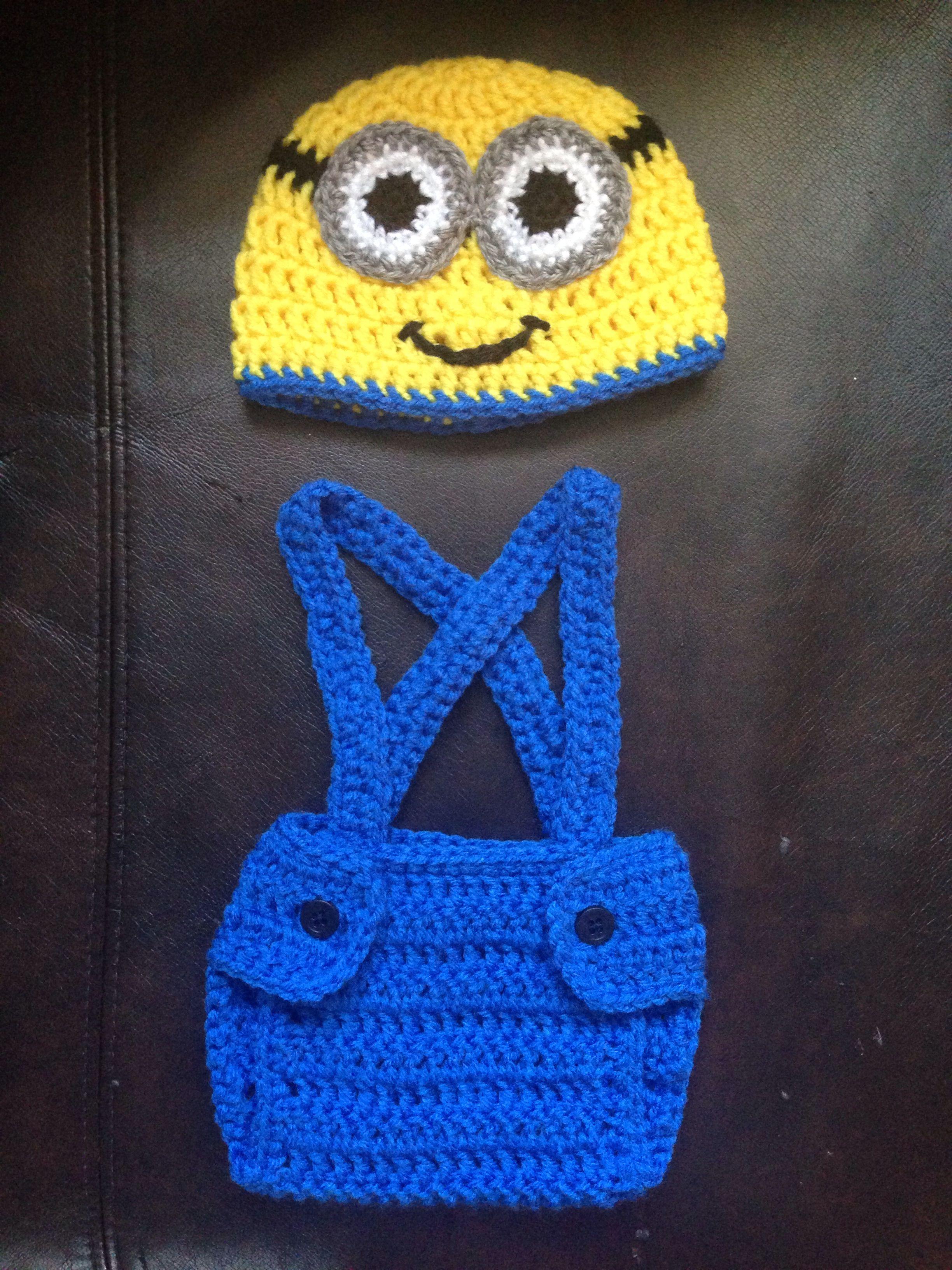 Crochet minion hat and diaper cover Future ideas (aka ...
