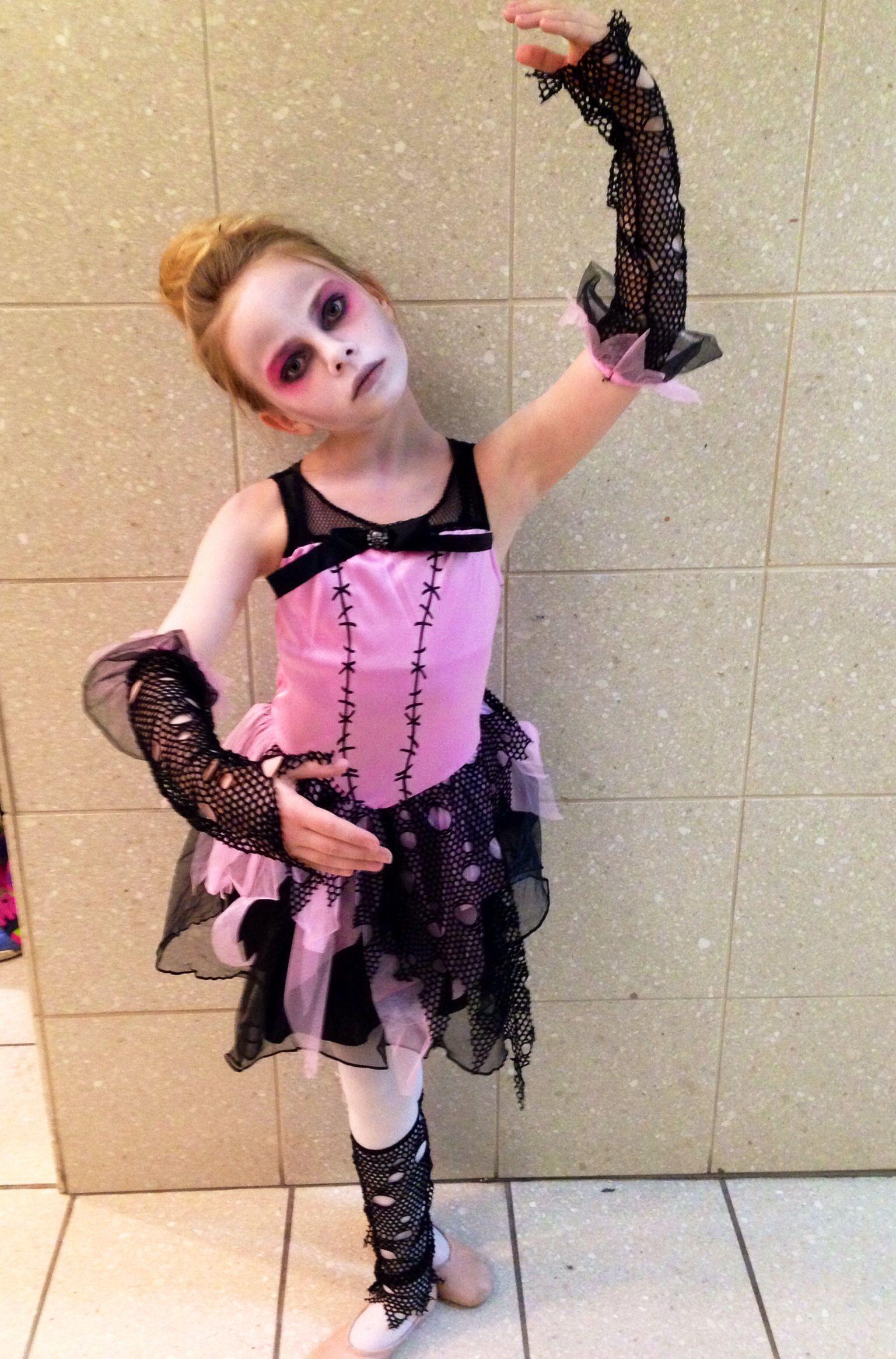 Zombie Ballerina Costume For Kids