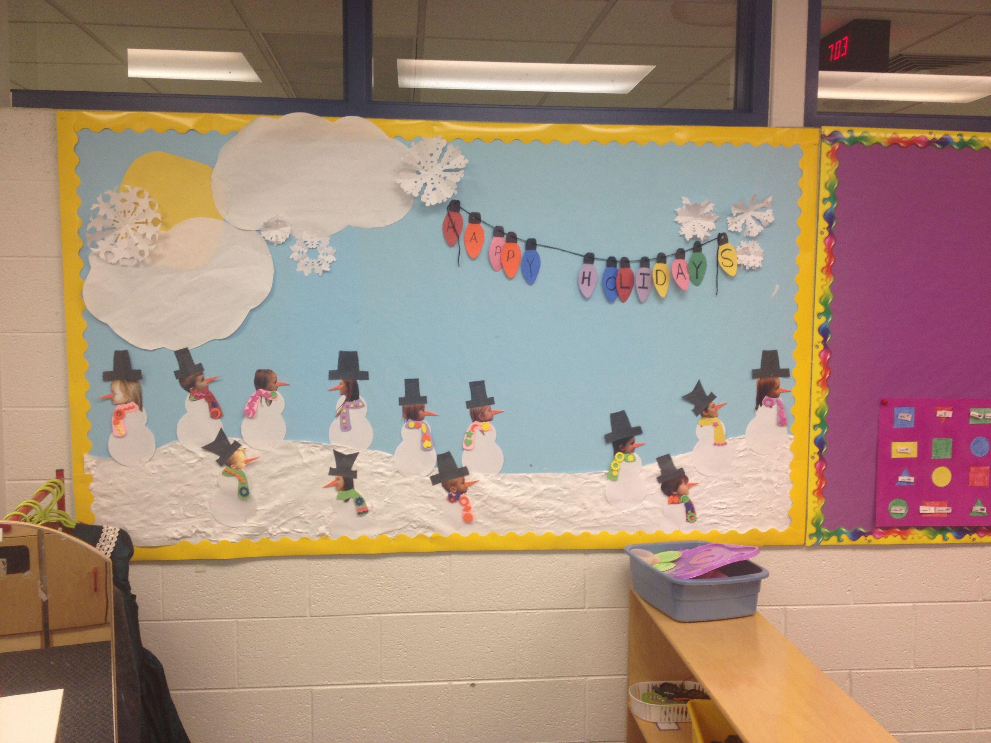 Preschool winter bulletin board   classroom ideas   Pinterest