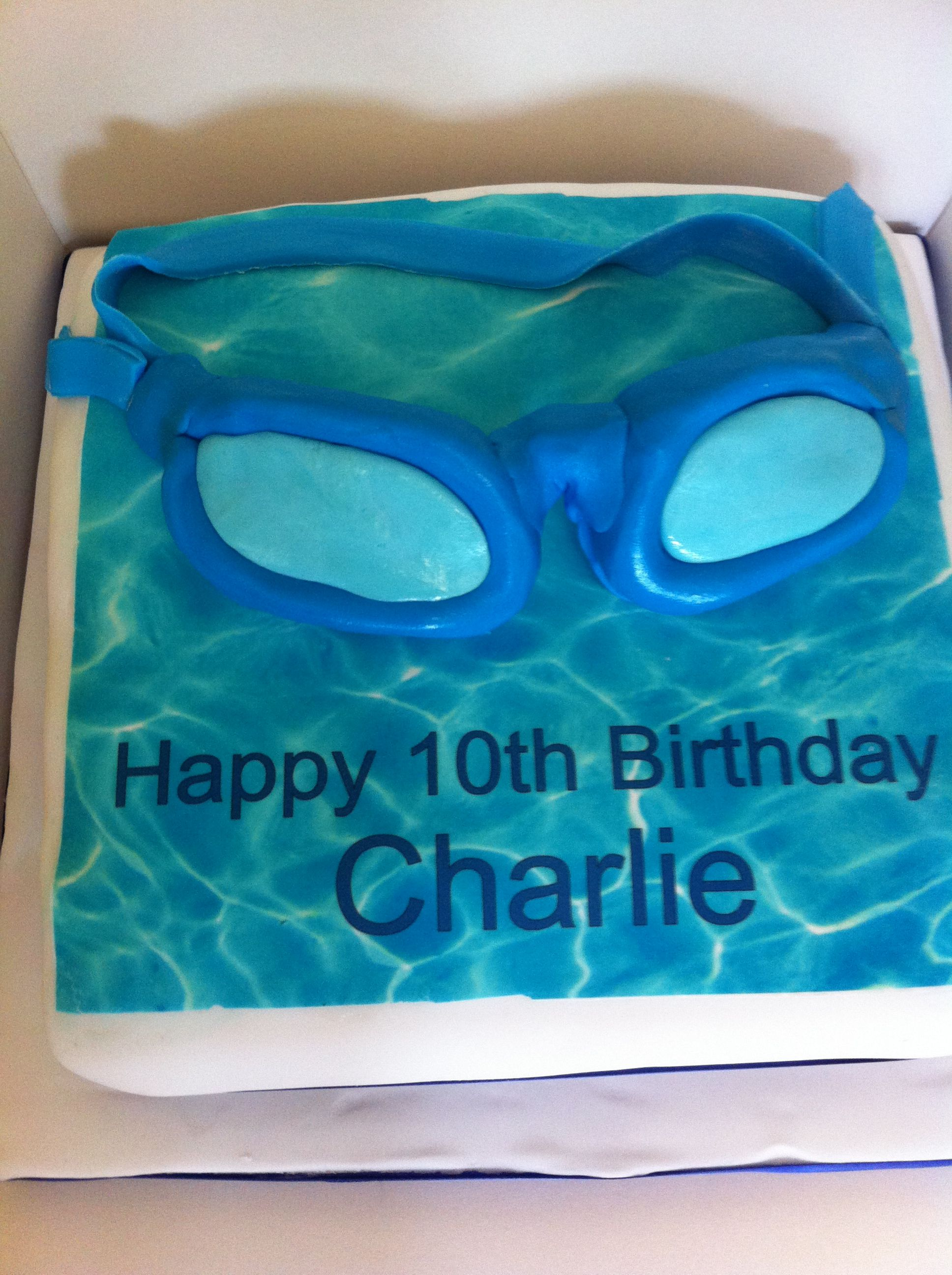 Swimming Pool Party Themed Birthday Cake Cakes Pinterest