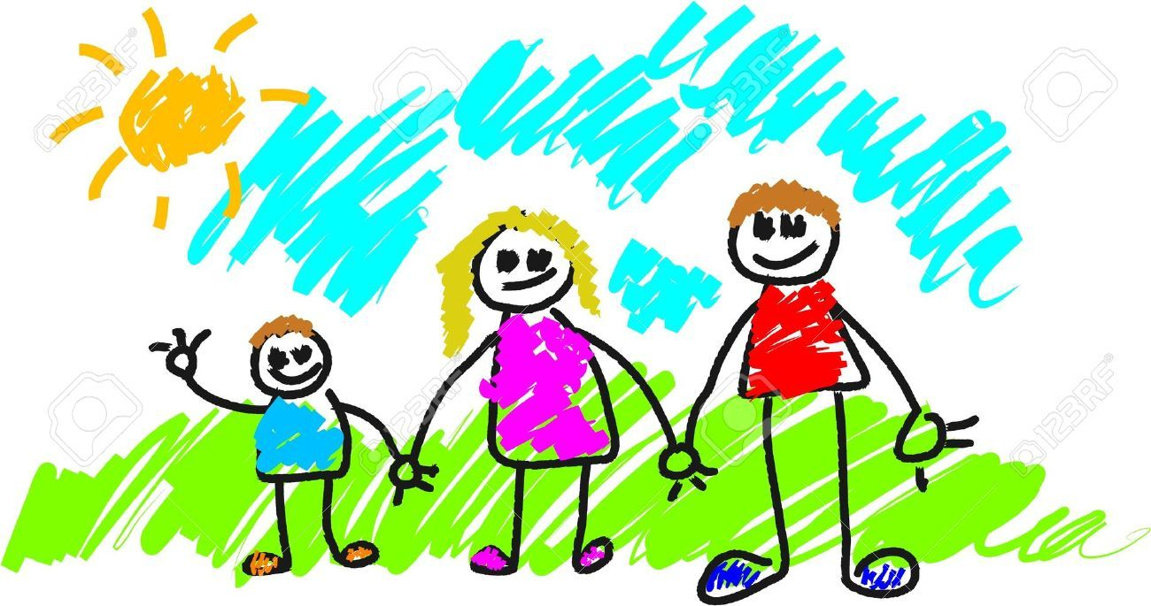 my family children - Free Drawing For Kids