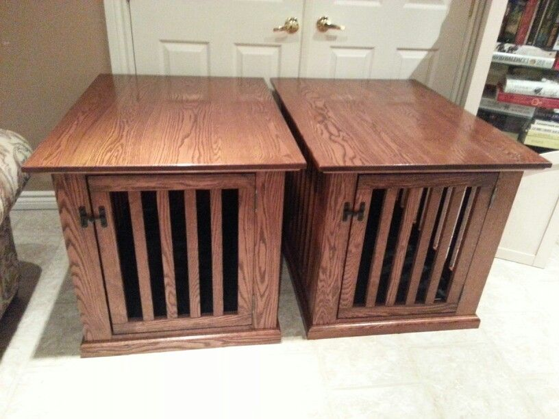 End Table Dog Crate Karl Projects Pinterest
