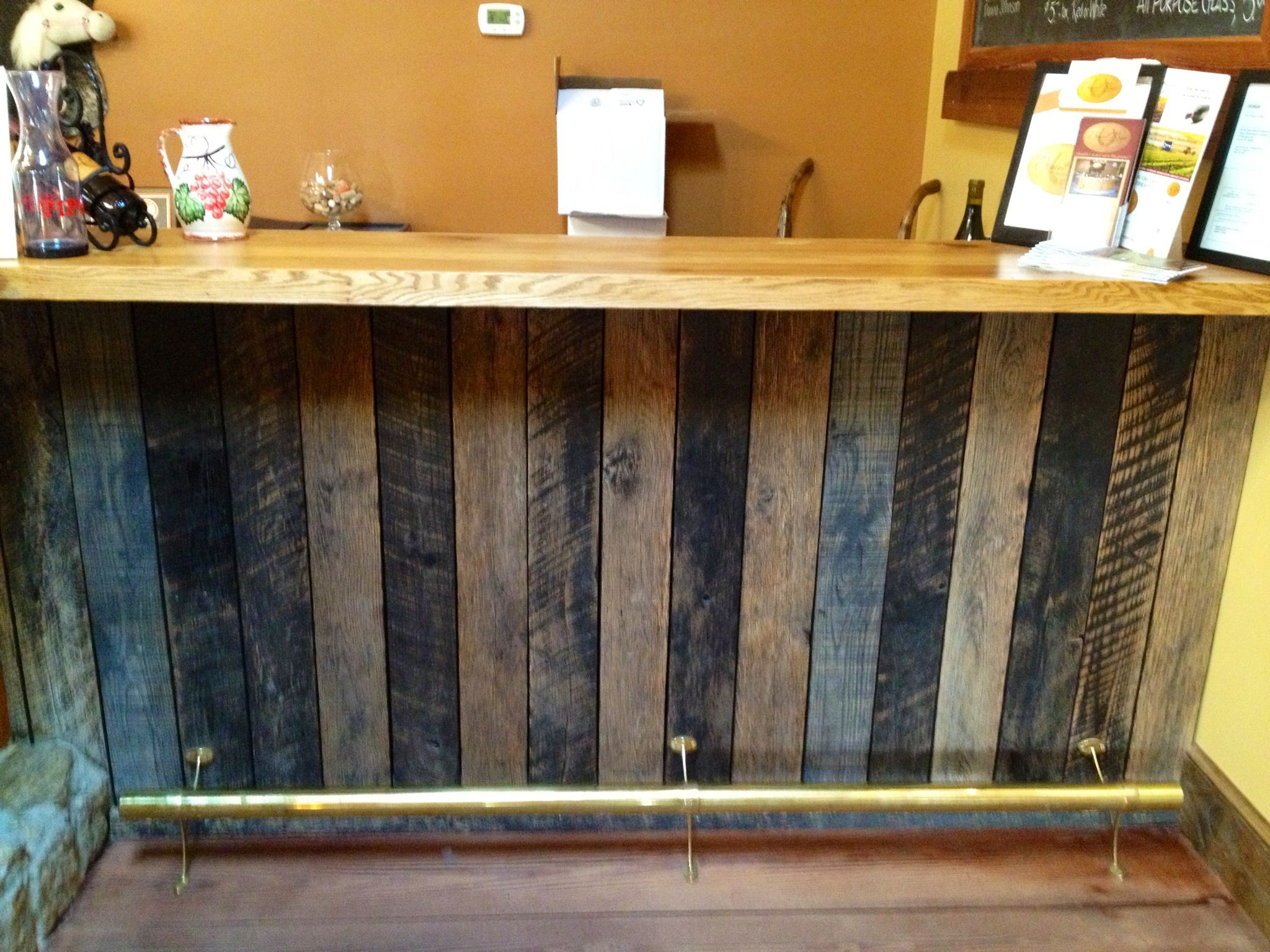 counter with reclaimed wood craft ideas pinterest