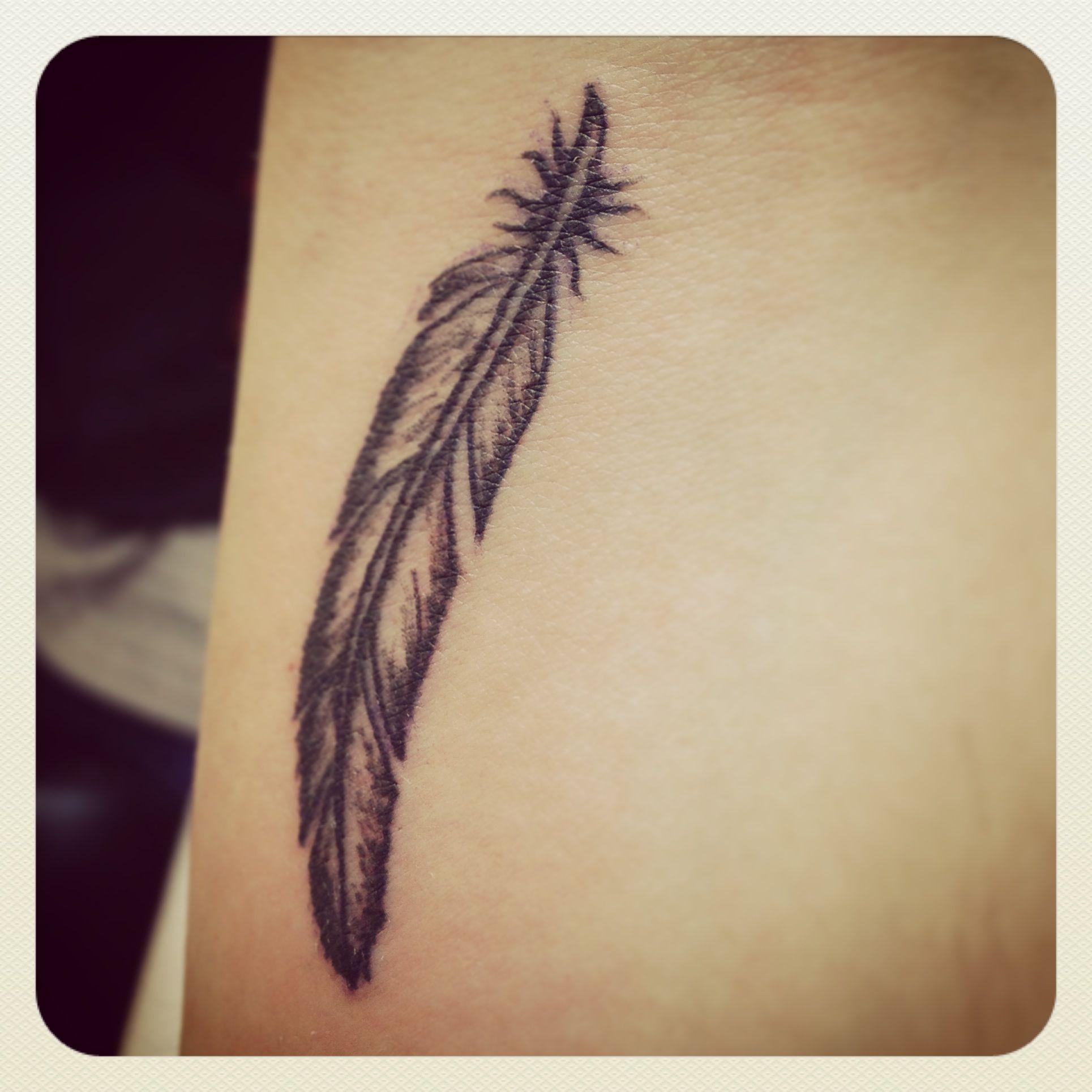 Feather Bracelet Tattoo On Wrist For Men: My New Feather Tattoo. Wrist. :-)
