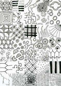 Drawing Ideas Patterns – Printable Editable Blank