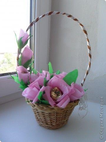 Корзинка для цветов своими руками мастер класс