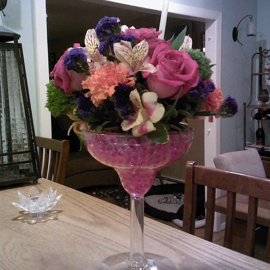 Margarita glass centerpiece wedding ideas pinterest