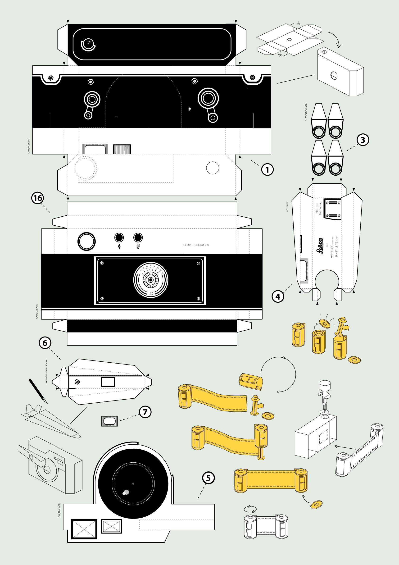 Схема видеокамеры из бумаги распечатать