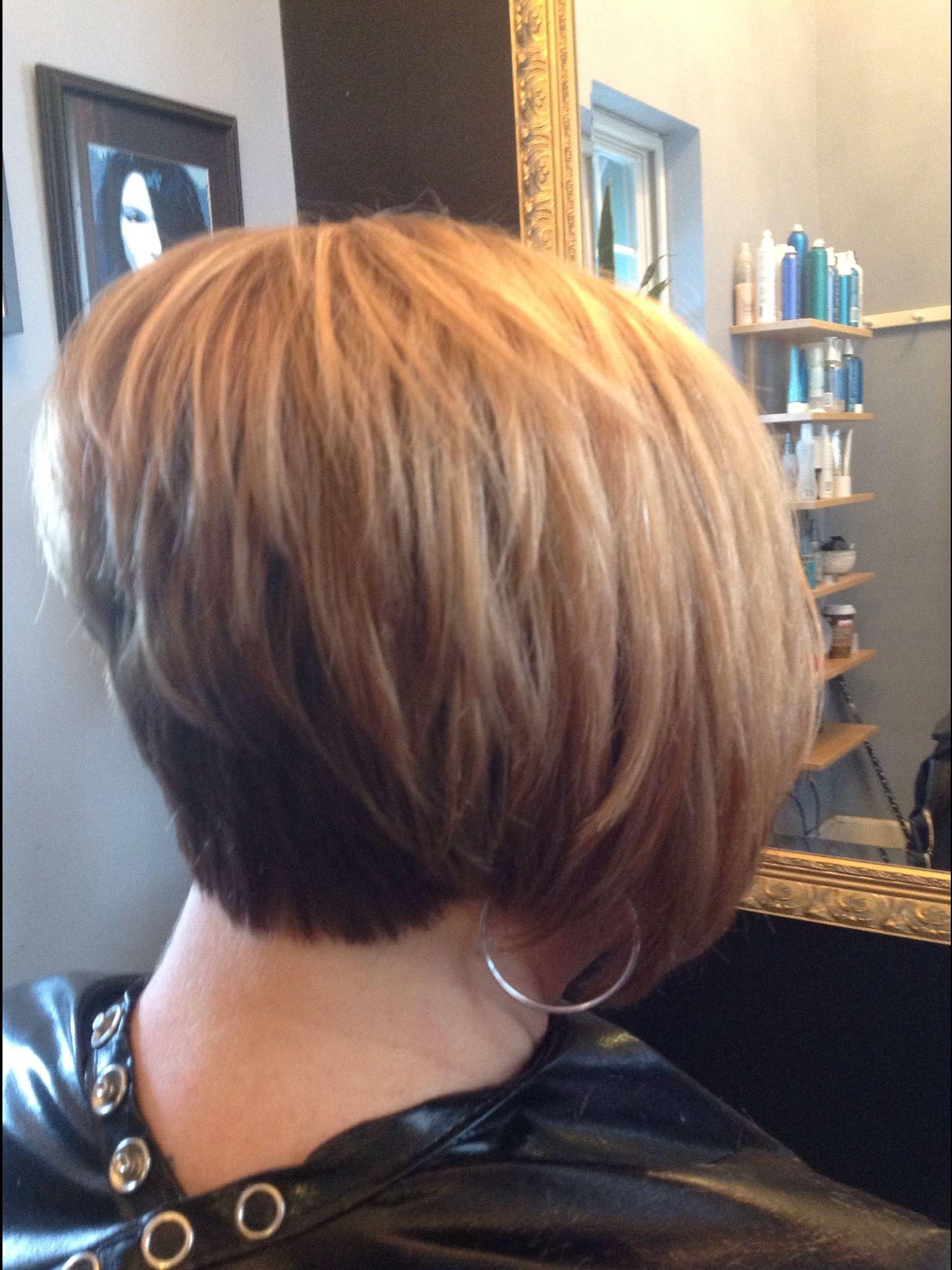 Short stacked bob hair love pinterest