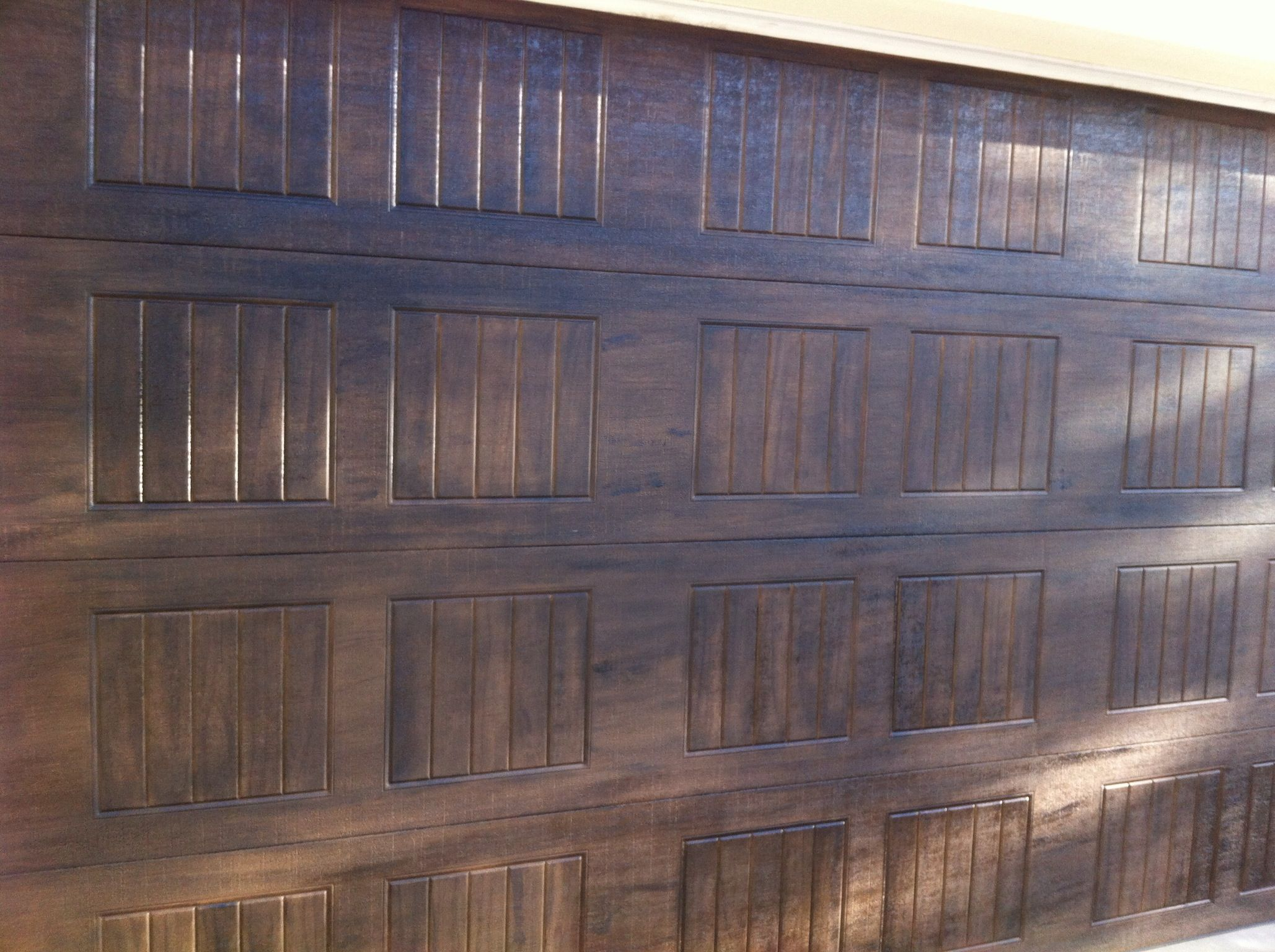 Faux wood garage doors paint pinterest Faux wood garage door paint
