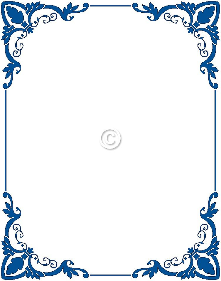 Wedding invitation border designs royal blue invitationswedd free border clip art and stopboris Image collections