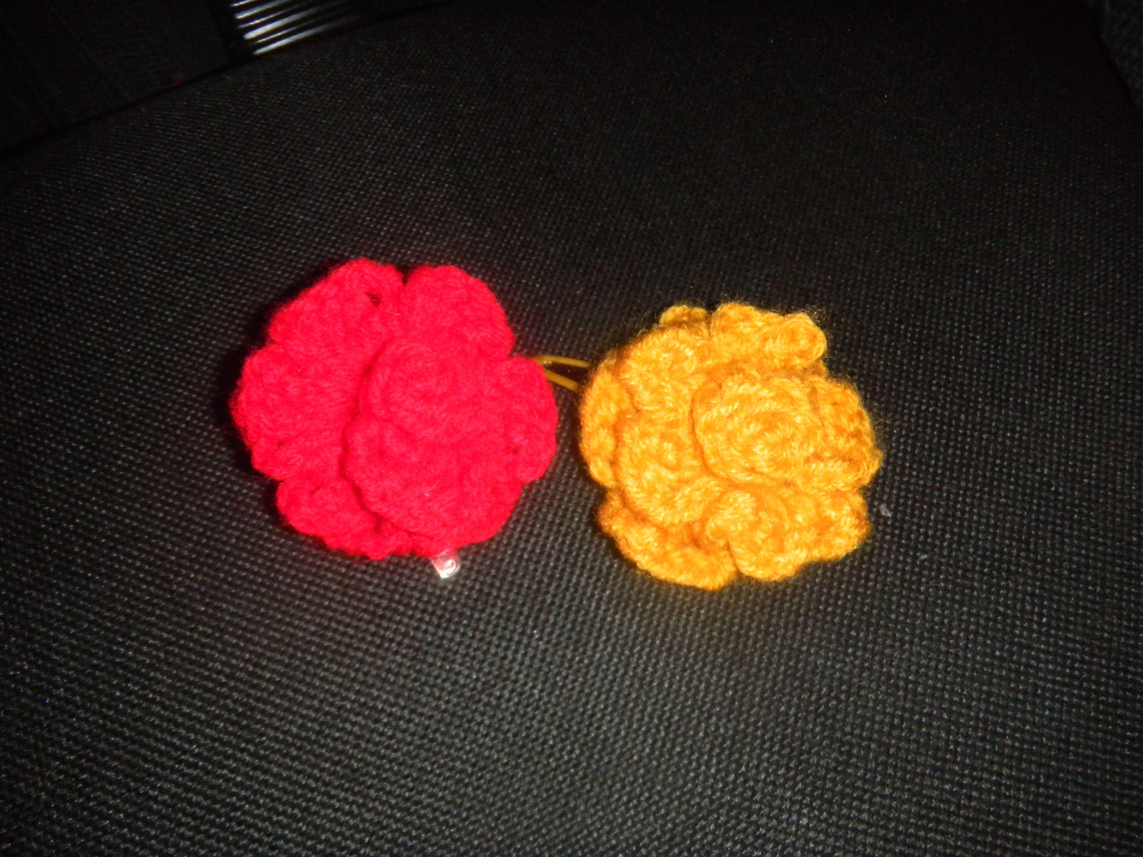 Crochet Hair Clips Pinterest : crochet flower hair clips Craft Ideas Pinterest