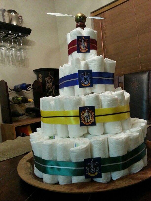 harry potter diaper cake jess 39 s baby shower pinterest