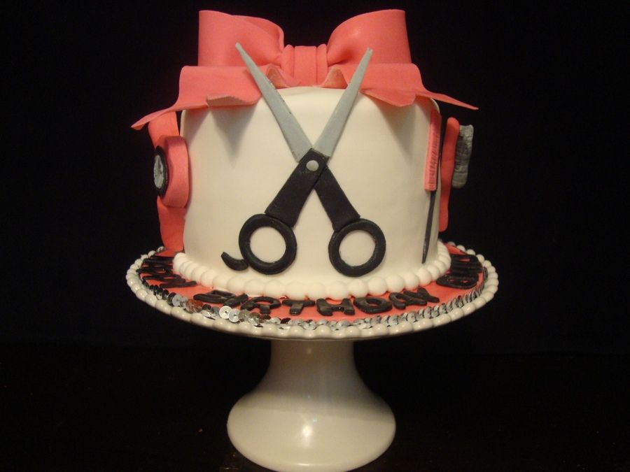 Hairdresser cake | The Girl With the Most Cake | Pinterest