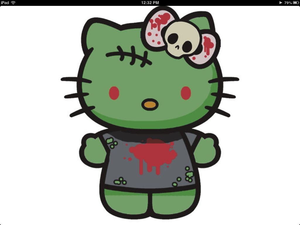Hello Kitty Zombie Halloween Coloring Pages : Hello kitty zombie halloween coloring pages