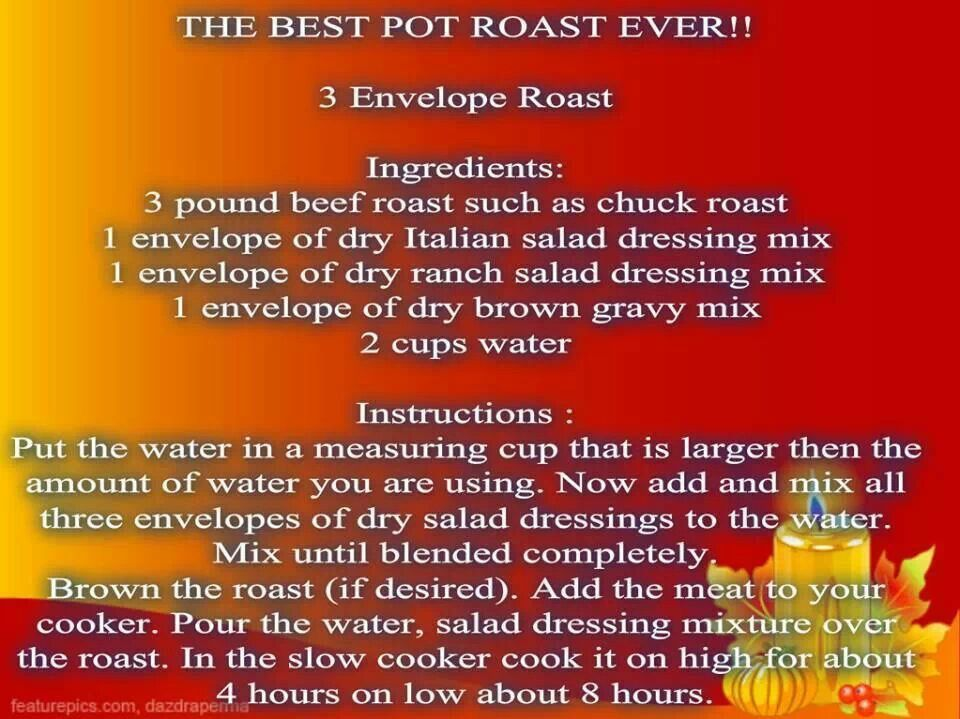 Best Pot Roast Ever | Recipes | Pinterest