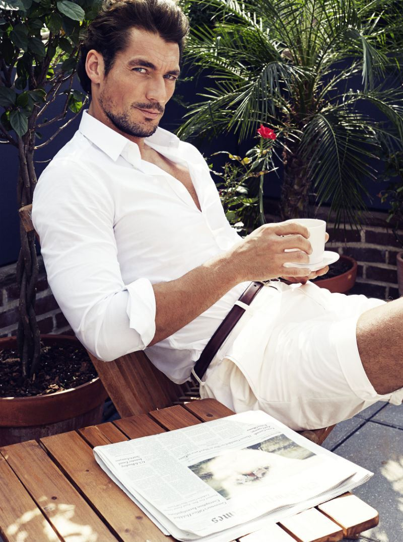Ask a Male Supermodel: 12 Questions (Over Coffee) with DavidGandy