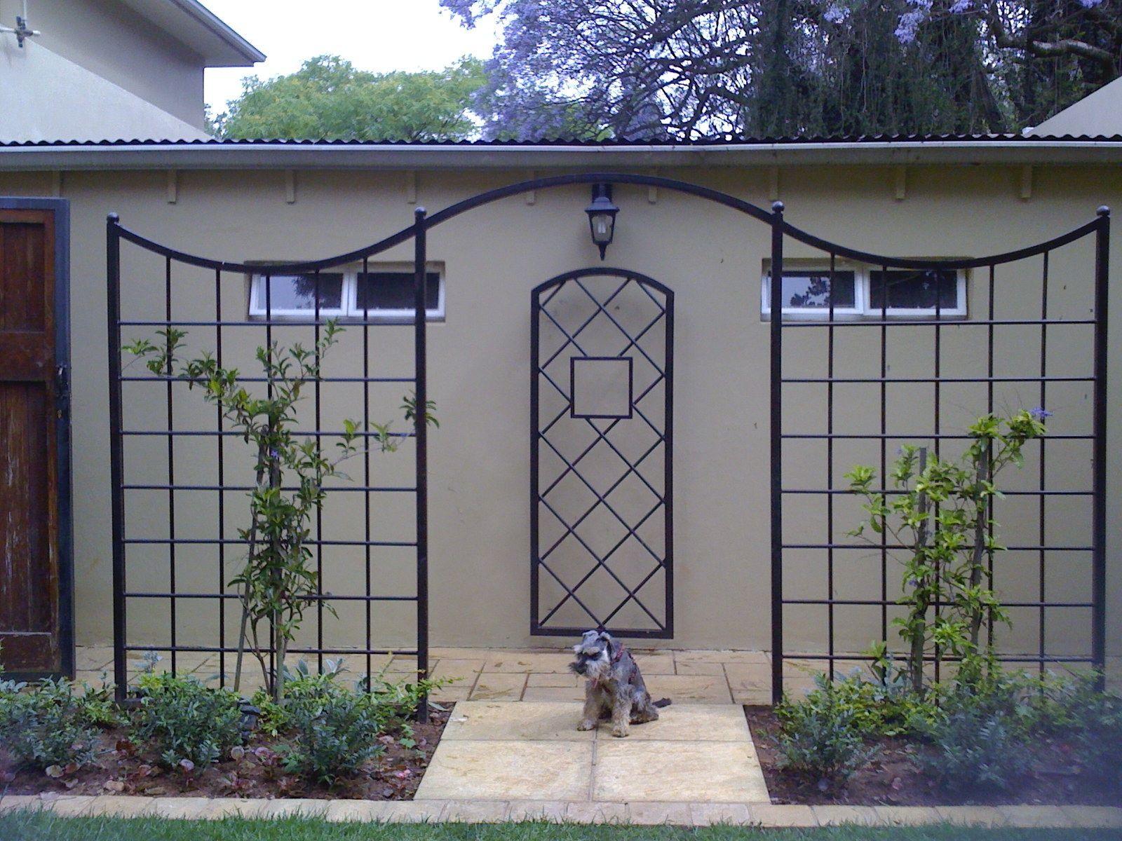 Wrought Iron trellis Garden Bleu Wrought iron Pinterest