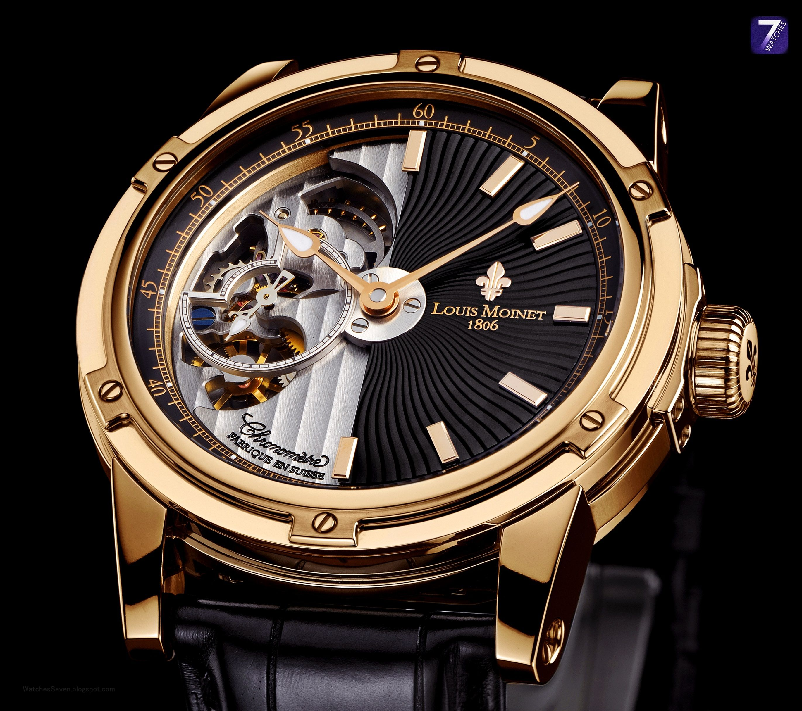 Watches 7 louis moinet mecanograph chronometer limited edition for Louis moinet watch