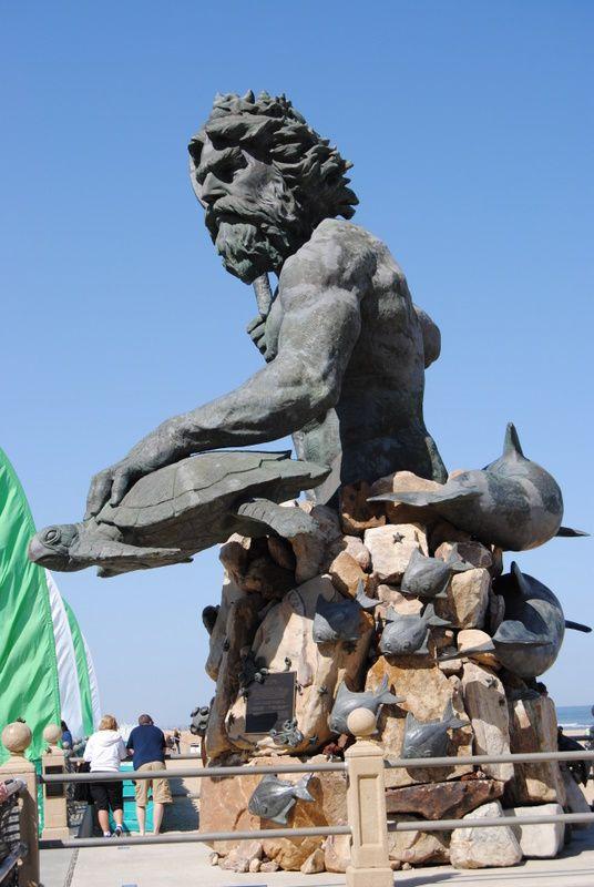 King Neptune statue in Virginia Beach | Shell Art | Pinterest