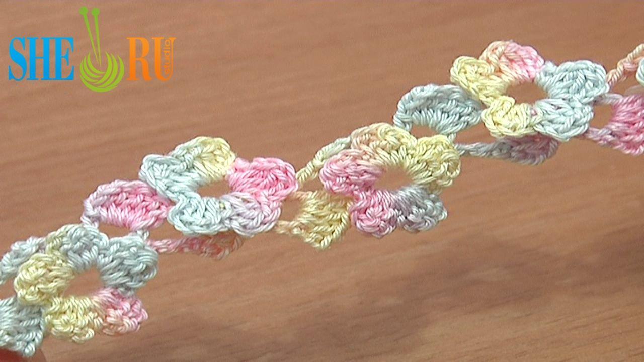 Crochet Flower Tutorial Sheru : Pin by SHERU Knitting on Crochet Cord Lace Stripe Pinterest